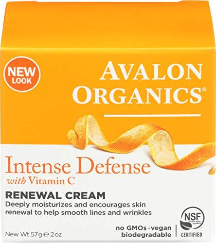 Avalon Active Organics Crème régénératrice hydratante pour le visage - Enrichie en vitamine C - 60 ml