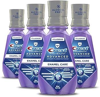 4-Pack Crest ProHealth Advanced Alcohol Deep Clean Mouthwash 16.9 fl oz