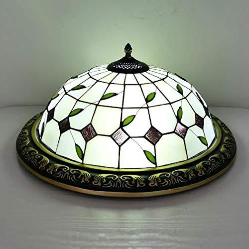 Plafondlamp, 16 inch, Tiffany-stijl, met kleurrijke lampenkappen van glas, decoratieve accessoires voor hal, slaapkamer Oro rosa + oro rosa