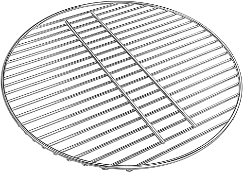 Denmay 34 cm Kohlerost rund für Weber 18–1/2 Zoll 47 cm Holzkohlegrill One-Touch, Bar-B-Kettle und Smokey Mountain Cooker Smoker