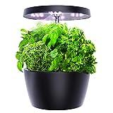 Ecoogrower Smart Garden, Hydroponics Growing System with LED Grow Light, Indoor Herb Garden Starter Kit for Beginners, Black, 4 Pots