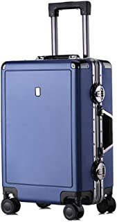 BXDYA Travel Spinner Luggage Trolley Case Universal Wheel Aluminum Frame Suitcase Customs Lock High-Grade Luggage (Color : E)