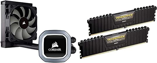 Corsair Hydro Series H60 AIO Liquid CPU Cooler, 120mm Radiator, 120mm SP Series PWM Fan & Vengeance LPX 16GB (2x8GB) DDR4 ...