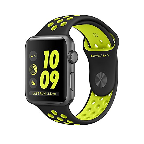 Apple Watch Nike+ Series 2 - Cassa 38 mm in Alluminio Grigio Siderale - Cinturino Nike Sport Nero/Volt