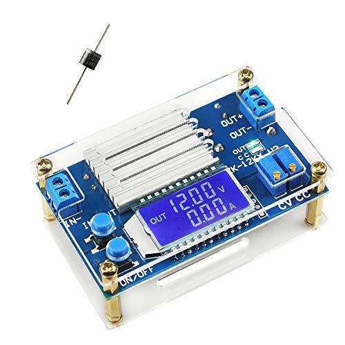 WayinTop DC-DC Convertidor Módulo de Alimentación 5.3V-32V a 1.2V-32V Convertidor Buck 12A 160W Regulador de Voltaje Ajustable CC CV Convertidor Reductor con Pantalla LCD