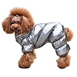 french bulldog fleece fabric - PET ARTIST Winter Puppy Dog Coats for Small Dogs,Cute Warm Fleece Padded Pet Clothes Apparel Clothing for Chihuahua Poodles French Bulldog Pomeranian Silver Chest:18