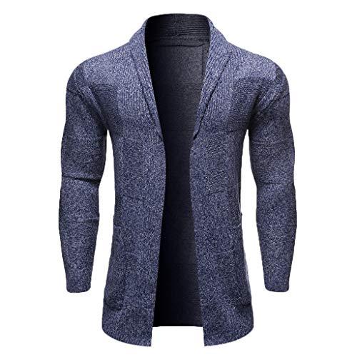 Longra Mannen Cardigan gebreide jas, heren-sweatshirt, eenkleurig, gemiddelde en lange mouwen, winter, gestreept, elegant, blouse, streetwear tops
