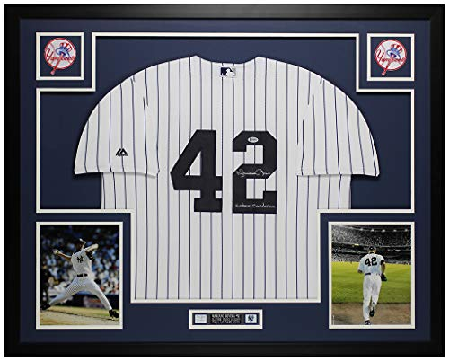 Reggie Jackson New York Yankees Hand Signed Rawlings Authentic Style Home Jersey