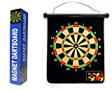 Trademark Games Magnetic Roll-up Dart Board and Bullseye Game w/ Darts...