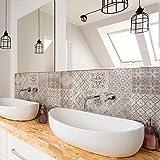 Paquete de 10 unidades de 20 x 20 cm – Fabricado en Italia – PS00237 – Decoraciones adhesivas de azulejos de vinilo para baño y cocina Stickers Design adhesivos murales