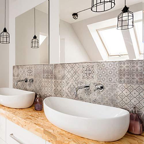 Paquete de 12 pegatinas de PVC para decoración de azulejos, de vinilo para baño y cocina, 15 x 15 cm, fabricadas en Italia - PS00237