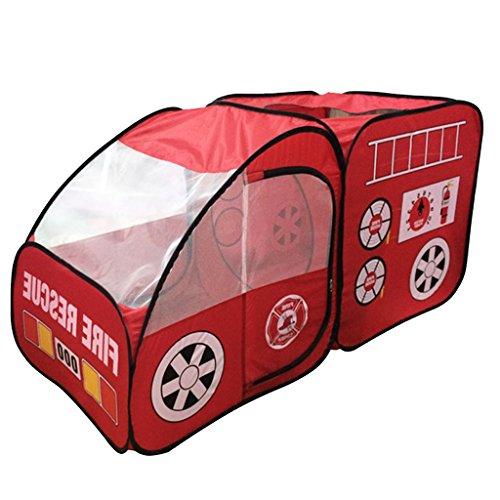 Gazechimp Kinder Feuer-LKW-Auto Spielzelt Kingdom Pop Up Spielzelt Haus Spielzeug Rot