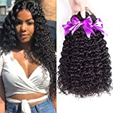 Malaysian Curly Hair 3 Bundles 100% Unprocessed Malaysian Virgin Human Kinky Curly Hair Bundles 14 16 18 Natural Black Color