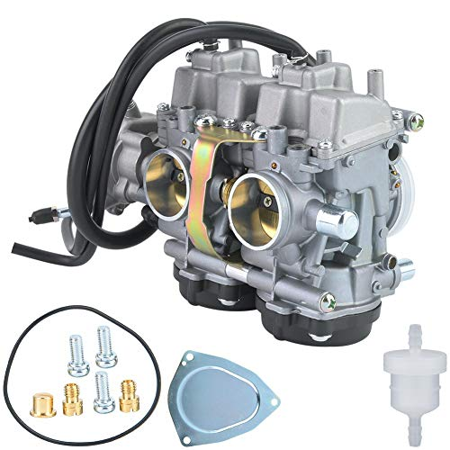 Qiilu Motorcycle Professional Carb Carburetor Compatible with Yamaha Raptor 660 2001 2002 2003 2004 2005
