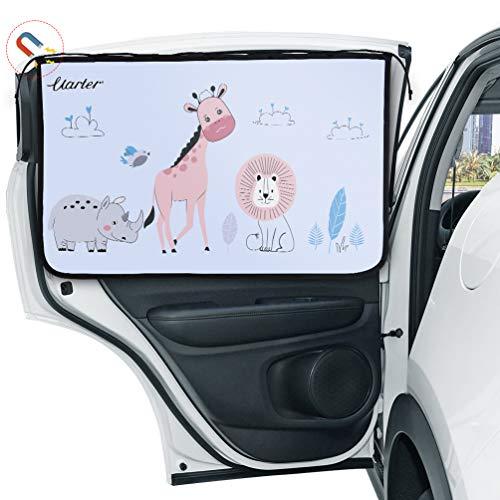 Uarter Auto Sonnenschutz Kinder Sonnenblende Auto mit UV Schutz Sonnenschutzrollo Auto für Seitenfenster Meshmaterial Schützt Mitfahrer, Baby, Kinder & Haustiere