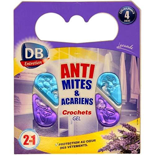 Meilleures ventes - Crochets Gel Anti Mites et Anti acariens, Parfum Lavande x 2