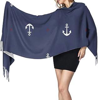 MARINE Ancre Écharpe Impression marine nautique Wrap soeur mère ami Ancres cadeaux