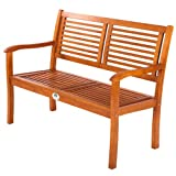 Ultranatura Gartenbank 2-Sitzer - Edles & Hochwertiges Eukalyptusholz