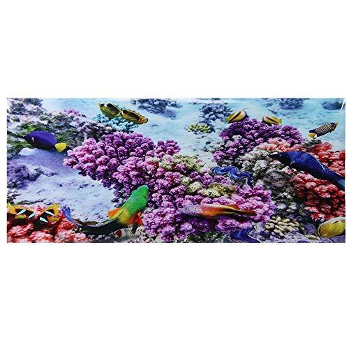 Aquarium Hintergrund Poster Dekorative Malerei PVC Aufkleber Unterwasser Fisch Landschaft Bild Wallpaper für Aquarium(61 * 41cm)