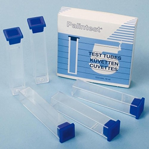 Palintest Tubes à essai en plastique carrés pour piscine 10 ml