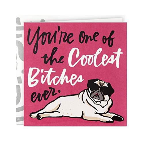 Hallmark Good Mail Funny Birthday Card for Women (Pug in Sunglasses)