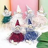 Makone Original Weihnachtsdekoration Elfen und Engel Weihnachtsflügel in Spitze Fransen Kleid für...