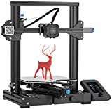 Creality Official Ender 3 V2 3D Printer with Upgraded Silent Main Board Carborundum Glass Platform MeanWell Power Supply, Resume Printing 220x220x250mm