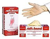 Soft-Hand 00368740 Latex Handschuhe, puderfrei, S (100-er Pack)