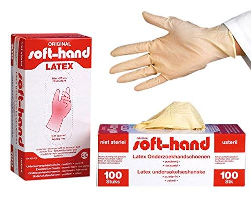 Soft main 00368763 Gants Latex, non poudrés, L (Lot de 100)