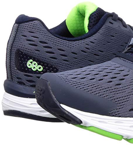 New Balance Men's 680 V6 Running Shoe, Pigment/RGB Green, 11 4E US 8