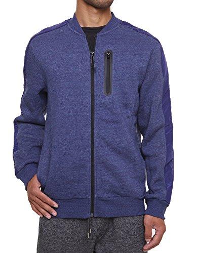 FORBIDEFENSE Fleece Sweatshirt Jacket Dotswarm Sweater-Comfort Front Zip Jacket Cozy Sport Outwear Casual,Thunder Melange,Medium