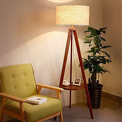 Einfache Holzstehlampe Wohnzimmer Studie kreative Stativ Stehlampe,Brown