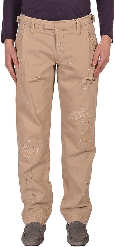 Dolce & Gabbana D&G Men's Beige Distressed Casual Pants US 30 IT 46;