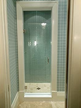24 -28  Frameless Shower Door with Brushed Nickel or Chrome Hardware Combo