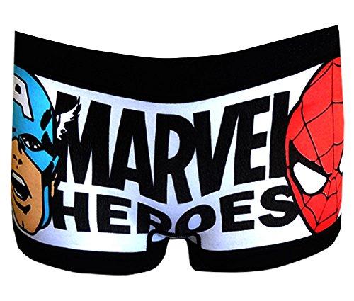 Marvel Heros Faces Juniors Boy Short Panties (Small)