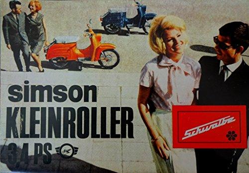 Schönes Kult Prospekt SIMSON Schwalbe 3,4 PS Modell KR 51 - DDR STIL 1967 VEB SUHL