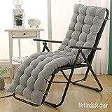 DUCHEN Cojín grueso y largo para tumbona reclinable con respaldo, silla de jardín, colchoneta para banco, para interior o exterior