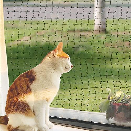 Rete per Gatti, Rete per gatti balcone, con Filo Rinforzato, Resistente ai morsi, 2 x 3 m
