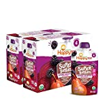 Happy Tot Organics Super Bellies Stage 4 Immune + Digestive Support Blend Organic Pears, Beets & Blackberries, 4 Ounce Pouch, 16 Count