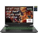 HP Pavilion15 Premium Gaming Laptop AMD Hexa-Core Ryzen 5 4600H (I7-9750H) 15.6' FHD Display 8GB DDR4 512GB SSD 1TB HDD 4GB GTX 1650 Backlit B&O HDMI WiFi Webcam Win 10 + Delca 16GB Micro SD Card