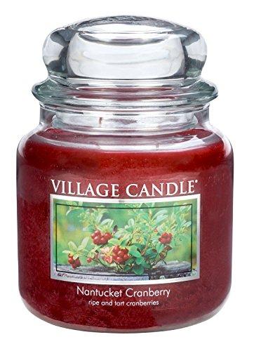 Village Candle Nantucket Prijs geurkaars in glas, 454 g, rood, 11 x 10,1 cm