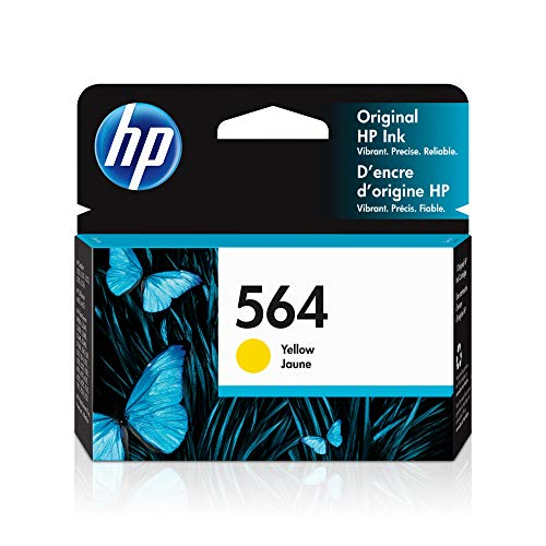 HP 564 | Ink Cartridge | Yellow | Works with HP DeskJet 3500 Series, HP OfficeJet 4600 5500 C6300 6500 7500 Series, B8550, D7560, C510, B209, B210, C309, C310, C410, C510 | CB320WN