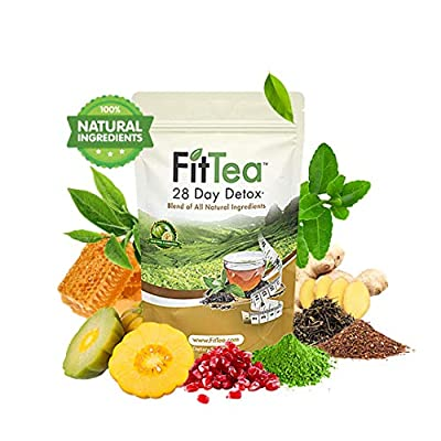 The ORIGINAL Fit Tea 28 Day Detox Tea, Herbal Tea for Colon and Body Cleanse from Fit Tea