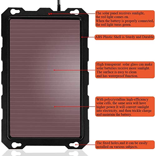 POWISER 3.3W Solar Battery Charger 12V Solar Powered Battery maintainer & Charger,Suitable for Automotive, Motorcycle, Boat, Marine, RV, Trailer, Powersports, Snowmobile, etc. (3.3W Amorphous)
