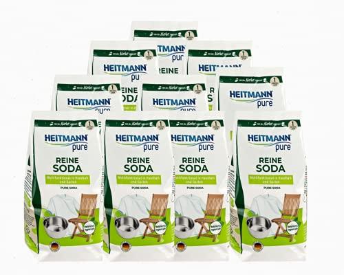 HEITMANN pure Reine Soda: Ökologischer Vielzweck-Reiniger für den Haushalt, Zugabe zu Spülmittel und Putzmittel, 10x 500g