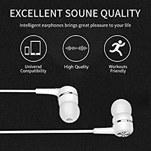 Earbuds Headphones with Microphone 5 Pack, Earbuds Wired Stereo Earphones in-Ear Headphones Bass Earbuds, Compatible with iPhone and Android Smartphones, iPod, iPad, MP3 Players, Fits Most 3.5mm Jack
