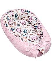 Solvera_Ltd Babynest 2-zijdig cocon eco babybed nestje voor pasgeborenen 100% katoen knuffelnest zacht en veilig reisbed voor baby's (50x90)