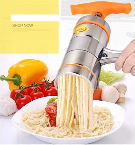 Profesional Profesional de acero inoxidable Tagliatelle Maker Manual Fettuccine Spaghetti Rice Fideos Prensa Máquina Pasta Vegetales frescos Exprimidor de frutas Herramienta de cocina multifunción