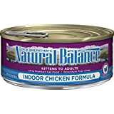 Natural Balance Indoor Formula Wet Cat Food, 5.5-Ounce Can (Pack Of 24)