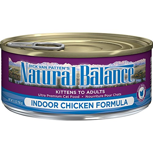 Natural Balance Ultra Premium Indoor Wet Cat Food, Chicken Formula, 5.5 Ounce Can (Pack of 24)
